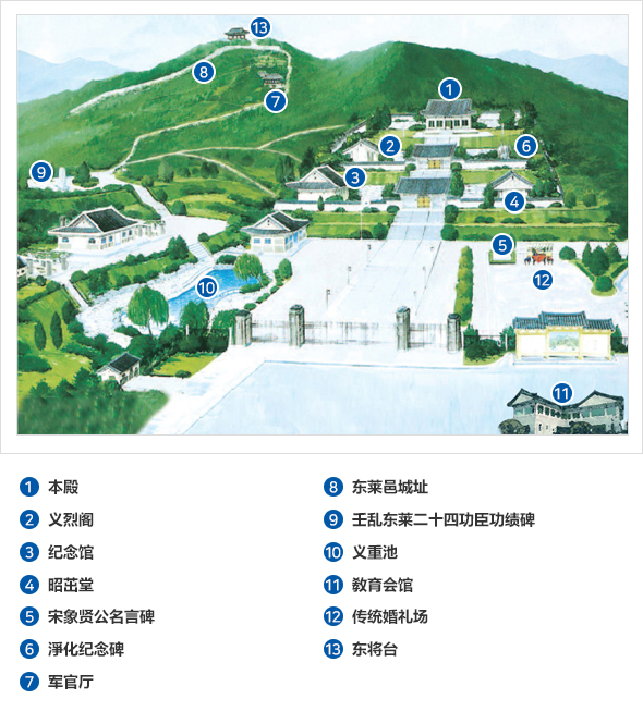 忠烈祠祭享 地圖